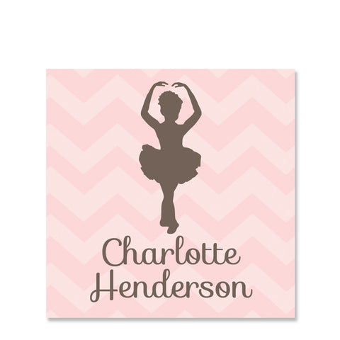 Ballet Name Stickers
