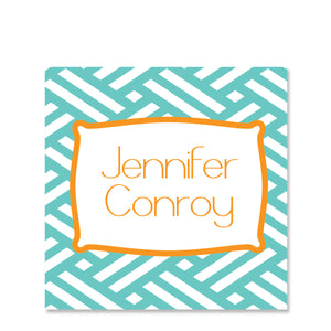 Basket Weave Name Stickers
