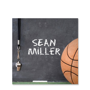 Basketball Name Stickers