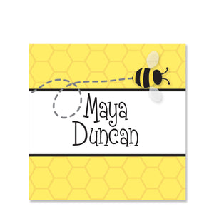Bee Name Stickers