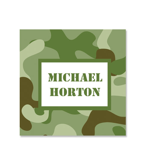 Camouflage Name Stickers