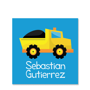 Dump Truck Name Sticker