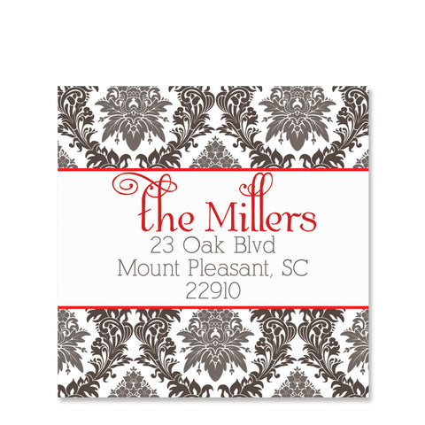Elegant Floral Return Address Stickers