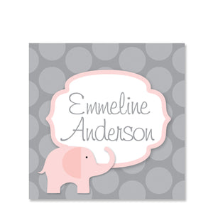 Elephant Name Stickers
