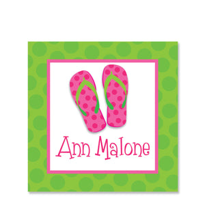 Flip Flops Name Stickers