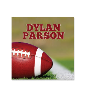 Football Name Stickers