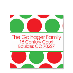 Holiday Cheer Return Address Stickers
