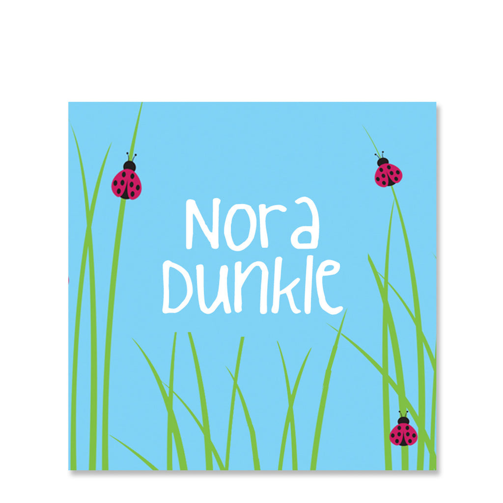 Lady Bugs Name Stickers