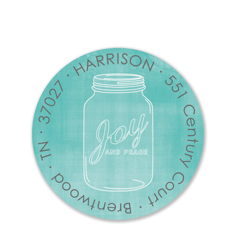 Mason Jar Return Address Stickers