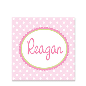 Polka Dot Girl Name Stickers