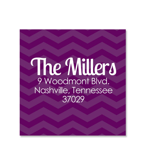 Purple Return Address Stickers