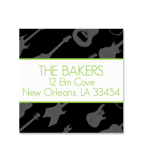 Rockin' Around The  Christmas Tree Return Address Stickers