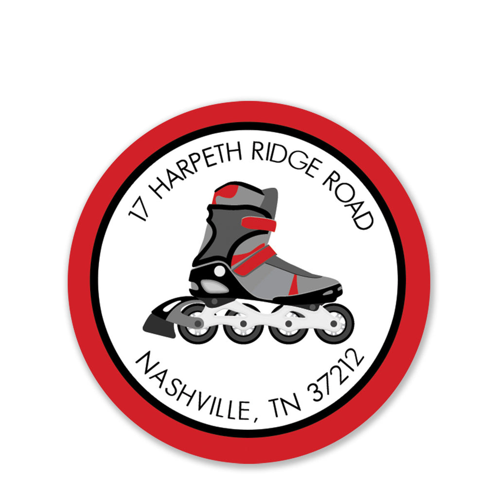Roller Blades Return Address Stickers