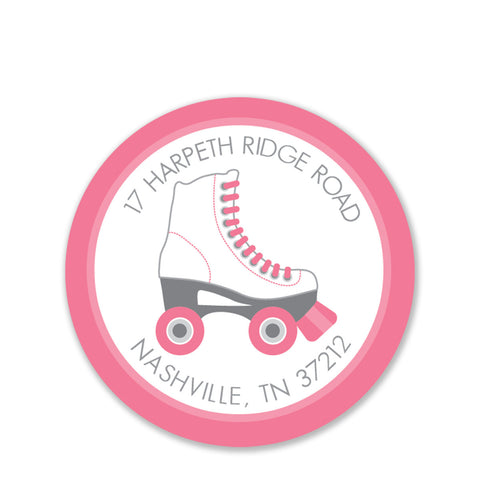 Roller Skates Return Address Stickers