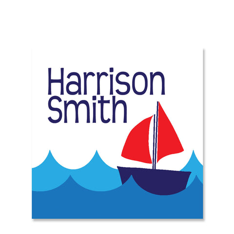 Sailboat Name Stickers