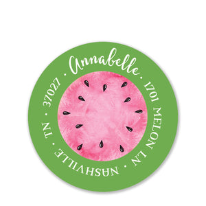 Watermelon Party Return Address Stickers (Printed)