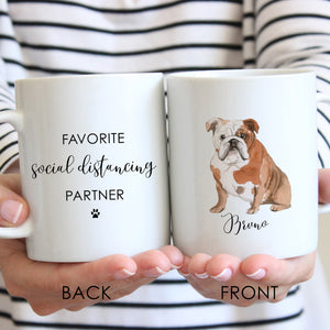Social Distancing Favorite Partner personalized Coffee Mug - Choose your breed