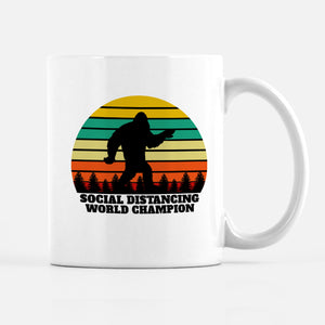 Social Distancing World Champion Coffee Mug, PIPSY.COM