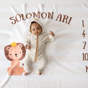 Lion Milestone Blanket, Boy, King of the Jungle, Crown, PIPSY.COM