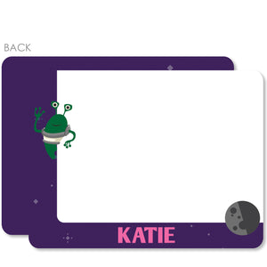 Astronaut in Space Notecard | Swanky Press | Purple