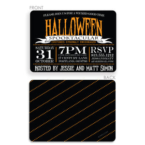 Spooktacular Halloween Invitation (Printed)