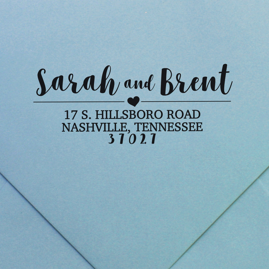 custom return address stamp, design 52 | Swanky Press | Wedding Stamp