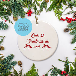 Custom Message | Personalized | Ceramic Ornament | State Love