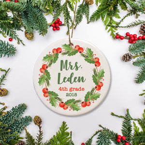 Teacher Appreciation Christmas Ornament | Pipsy.com