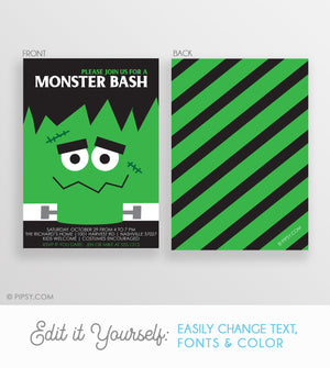 Frankenstein Halloween Invitation (DIY)