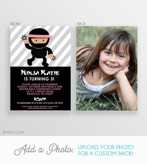 Ninja Girl Invitations (DIY Printable)