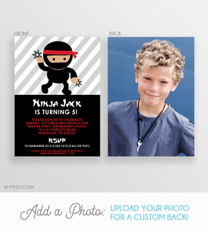 Ninja Birthday Invitations (DIY Printable)