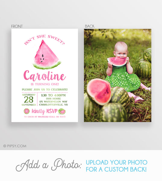 Watermelon Birthday Invitation (DIY Templett)