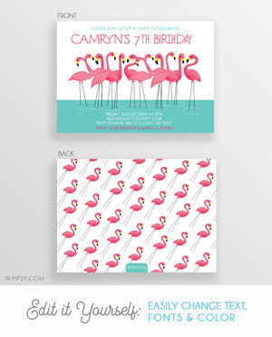 Flamingo Birthday Invitation (DIY Printable)