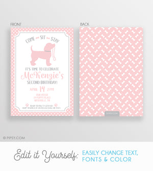 Puppy Party Invitation (DIY Printable)