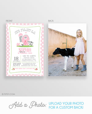 Pink Farm Invitation (DIY Printable)