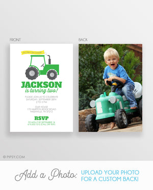 Tractor Birthday Invitation (DIY Printable)