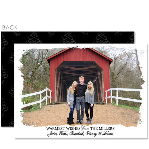 White Frame Holiday Photo Card | Swanky Press