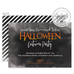 Something Wicked This Way Comes Summons Halloween Invitation | DIY Instant Download | Templett Invitation