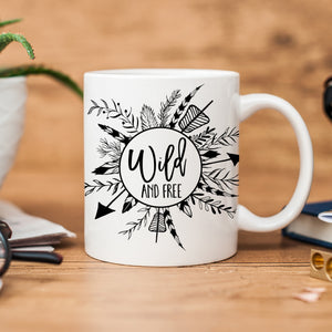 Wild And Free Coffee Mug, Adventure, Wanderlust, Wilderness, PIPSY.COM