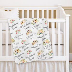 Personalized Floral Wildflower Baby Blanket | PIPSY.COM