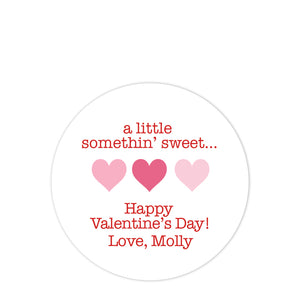 "Heart Valentine's Day Stickers  - ""A Little Something Sweet"""