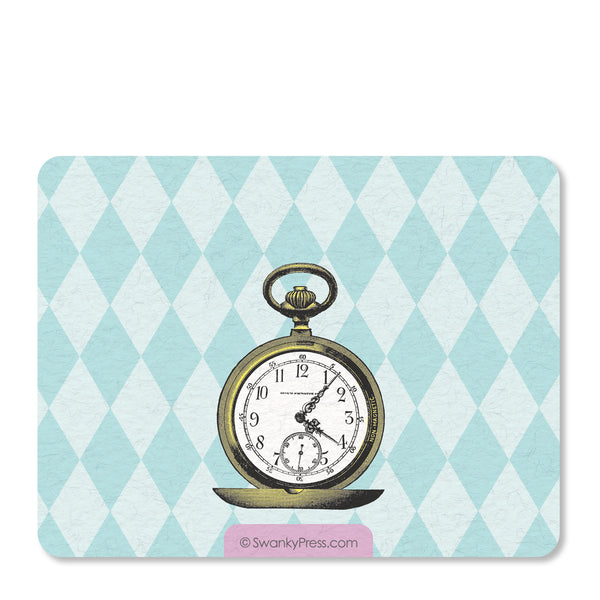 Alice in Wonderland Flat Notecard | Swanky Press | Back
