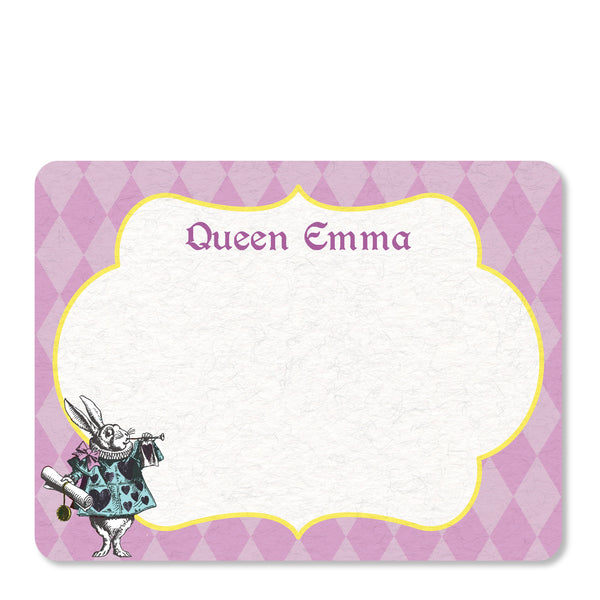 Alice in Wonderland Flat Notecard | Swanky Press | Front