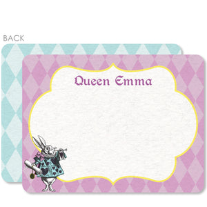 Alice in Wonderland Flat Notecard | Swanky Press | Purple & Blue