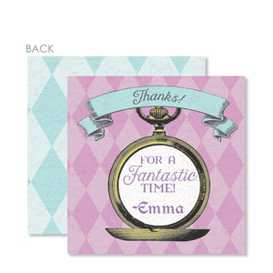 Alice in Wonderland Cardstock Favor Tag | Swanky Press | Purple & Blue