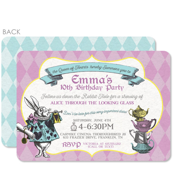 Alice in Wonderland Birthday Invitation | Swanky Press