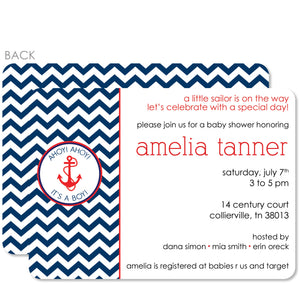 Anchor Baby Shower Invitation (Printed)