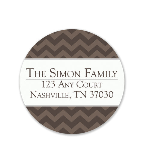 Antique Chevron Return Address Sticker | Swanky Press