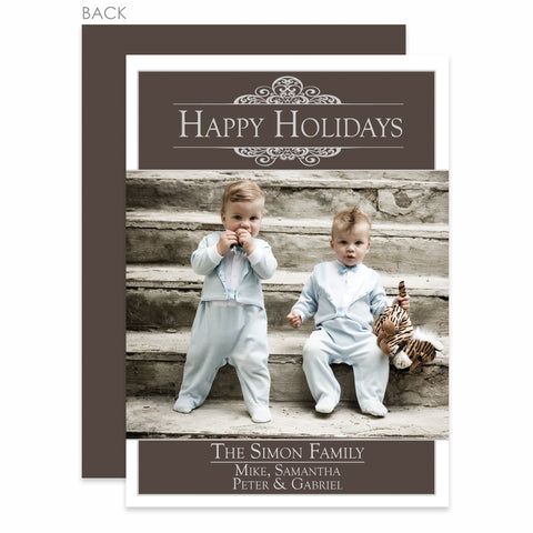 Antique Holiday Photo Card