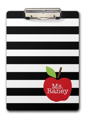 apple teacher clipboard | Swanky Press